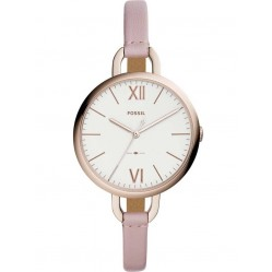 Fossil Ladies Annette Pink Strap Watch ES4356
