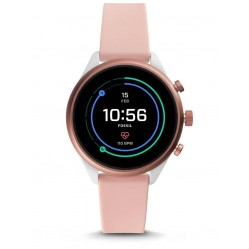 Fossil Ladies Sport Blush Rubber Strap Smartwatch FTW6022