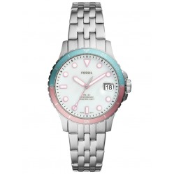 Fossil Ladies FB-01 Stainless Steel White and Pink Dial Bracelet Watch ES4741