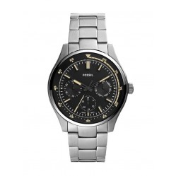 Fossil Mens Belmar Stainless Steel Black Chronograph Dial Bracelet Watch FS5575