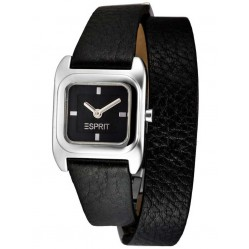 Esprit Ladies Black Wrap Strap Watch ES105702001