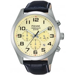 Pulsar Mens Cream Dial Watch PT3665X1
