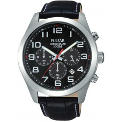 Pulsar Mens Black Dial Watch PT3667X1