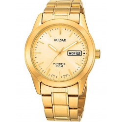 Pulsar Mens Kinetic Gold Plated Watch PD2024X1