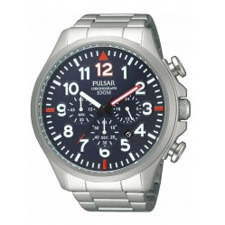 Pulsar Mens Chronograph Bracelet Watch PT3319X1