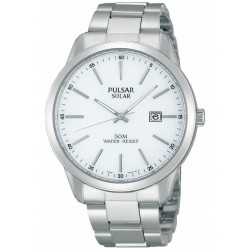 Pulsar Mens Solar Powered Bracelet Watch PX3019X1
