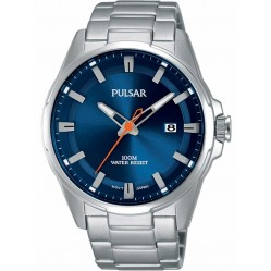 Pulsar Mens Blue Sports Watch PS9505X1