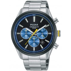 Pulsar Mens Steel Chronograph Watch PT3727X1