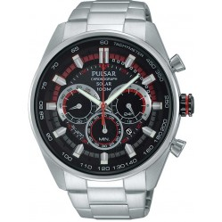 Pulsar Mens Black Chronograph Watch PX5017X1