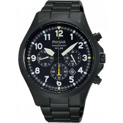 Pulsar Mens Solar Powered Chronograph Bracelet Watch PX5003X1