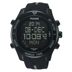 Pulsar Mens Alarm Chronograph Strap Watch PQ2041X1