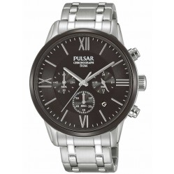 Pulsar Mens Chronograph Bracelet Watch PT3805X1