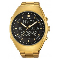 Pulsar Mens Gold Watch PZ4012X1