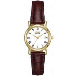 Citizen Ladies Brown Leather Strap Watch EW1272-01B