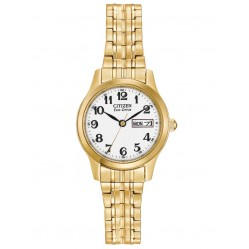 Citizen Ladies Gold Plated Expandable Watch EW3152-95A