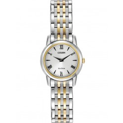 Citizen Ladies Stiletto White Dial Two Tone Bracelet Watch EG3048-58A