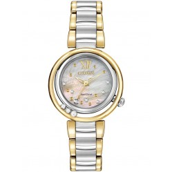 Citizen Ladies CITIZEN L Sunrise Diamond Two Tone Bracelet Watch EM0324-58D