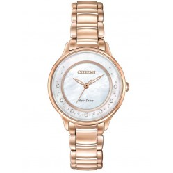 Citizen Ladies Circle Of Time Mother of Pearl Diamond Bracelet Watch EM0382-86D