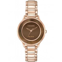 Citizen Ladies Circle of Time Rose Gold Plated Bracelet Watch EM0382-86X