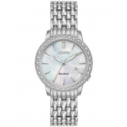 Citizen Ladies Diamond Bezel Bracelet Watch EW2280-58D