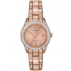 Citizen Ladies Silhouette Rose Gold Plated Bracelet Watch FE1123-51Q