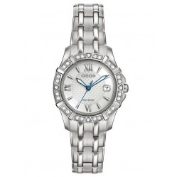 Citizen Ladies Silhouette Diamond Bracelet Watch EW2360-51A