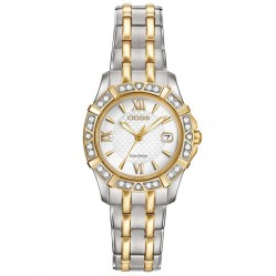 Citizen Ladies Silhouette Diamond Two Tone Bracelet Watch EW2364-50A