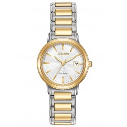 Citizen Ladies Eco-Drive Two Tone Bracelet Watch EW2374-56A