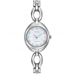 Citizen Ladies Silhouette Crystal Open Link Bracelet Watch EX1430-56D