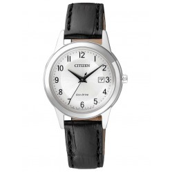 Citizen Ladies Corso Black Leather Strap Watch FE1081-08A