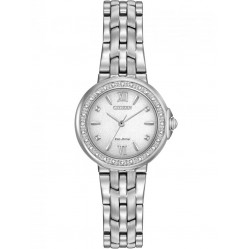 Citizen Ladies Diamond Stainless Steel Bracelet Watch EM0440-57A