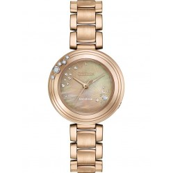 Citizen Ladies CITIZEN L Carina Diamond Rose Tone Bracelet Watch EM0463-51Y