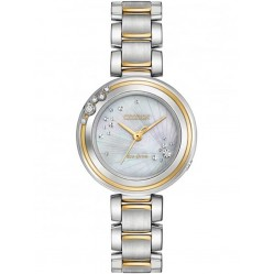 Citizen Ladies Eco-Drive L-Carina Diamond Bracelet Watch EM0464-59D