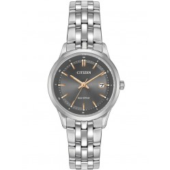 Citizen Ladies Eco-Drive Stainless Steel Bracelet Watch EW2400-58H