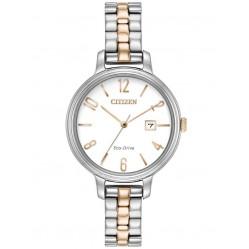 Citizen Ladies Eco-Drive Two Colour Bracelet Watch EW2446-57A