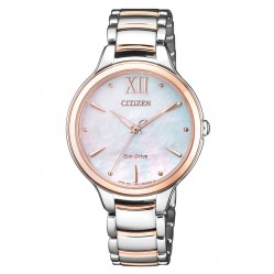 Citizen L Eco-Drive Mother Of Pearl Bracelet Watch EM0556-87D