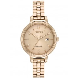 Citizen Ladies Silhouette Rose Gold Plated Watch EW2443-55X