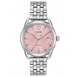Citizen Ladies LTR Pink Dial Mesh Bracelet Watch FE6080-71X