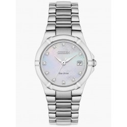 Citizen Ladies Eco-Drive Mother of Pearl & Diamond Dial Bracelet Watch EW1531-55D