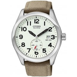 Citizen Mens Beige Fabric Strap Watch BV1080-18A