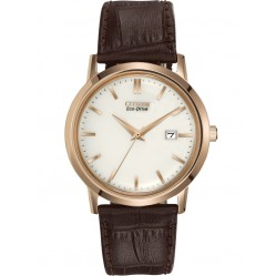 Citizen Mens Brown Strap Watch BM7193-07B