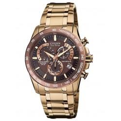 Citizen Mens PCAT Sapphire Rose Tone Bracelet Watch AT4106-52X