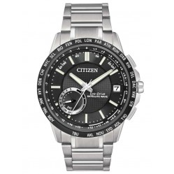 Citizen Mens Satellite Wave World Time GPS Bracelet Watch CC3005-85E