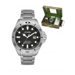 Citizen Mens Eco Drive Limited Edition Royal Marines Titanium Watch BN0140-56F