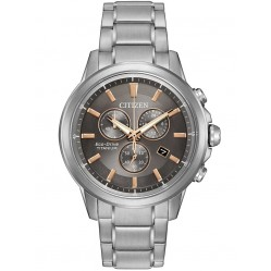 Citizen Mens Chandler Super Titanium Chronograph Bracelet Watch AT2340-56H