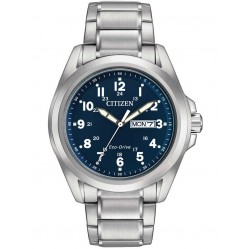 Citizen Mens Eco-Drive Navy Dial Watch AW0050-58L