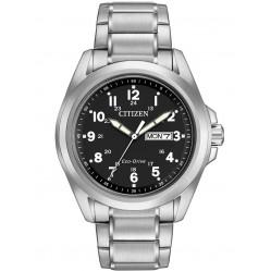 Citizen Mens Eco-Drive Black Dial Watch AW0050-82E