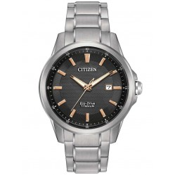 Citizen Mens Eco-Drive Titanium Watch AW1490-50E