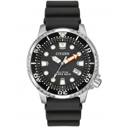 Citizen Mens Promaster Diver Black Rubber Strap Watch BN0150-28E