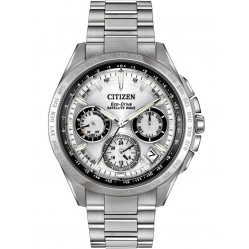 Citizen Mens Eco-Drive Satellite Wave Titanium Bracelet Watch CC9010-74A